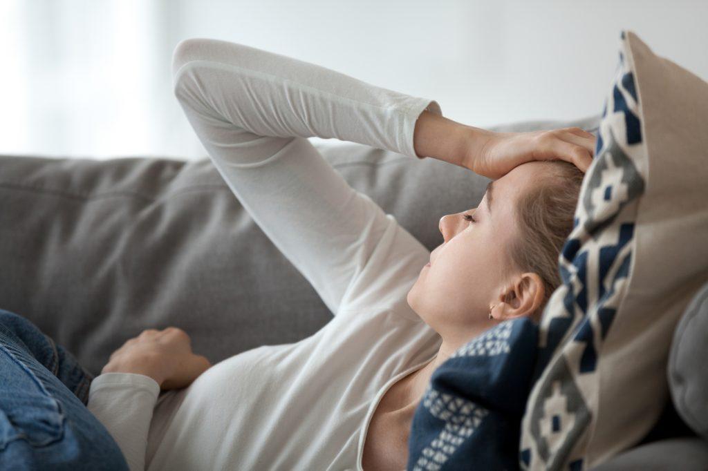 Huvudvärk, kvinna, akupunktur